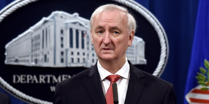 Image: Deputy Attorney General Jeffrey Rosen And Federal Law Enforcement Agencies Hold News Conference At Justice Department