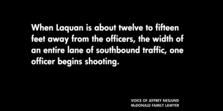 '...the officer continues to shoot Laquan...'