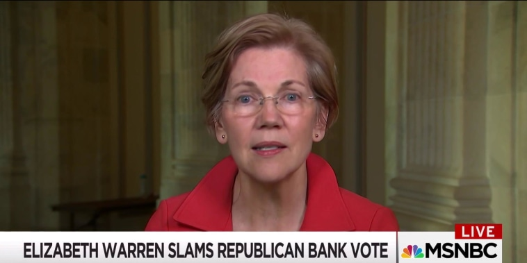 "Warren on bill she calls ""giant wet kiss to Wall Street"""