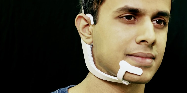 This futuristic headset lets you talk to other devices without actually saying anything