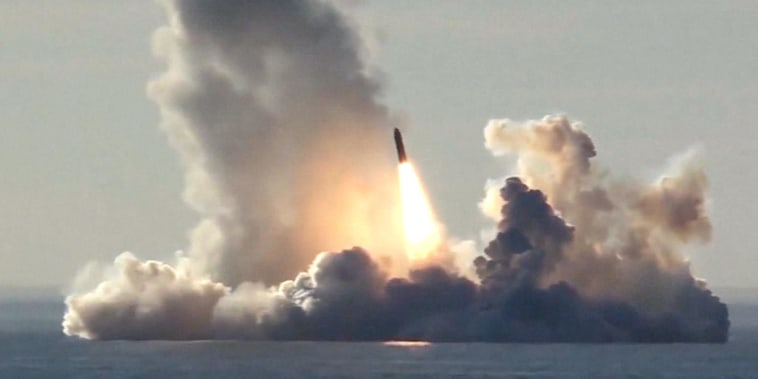 Russia claims a first as nuclear sub test-launches four ICBMs
