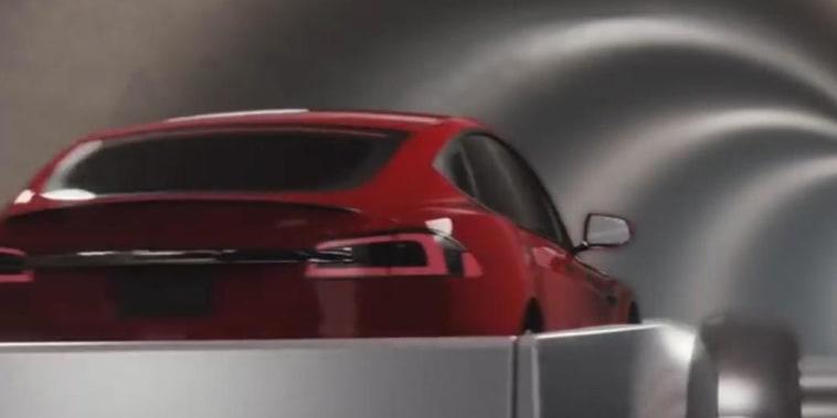 Elon Musk reveals Los Angeles transportation tunnel