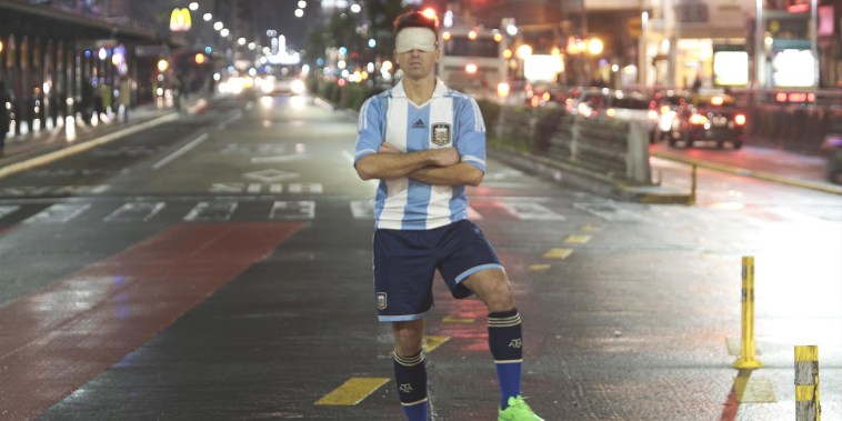 Blind soccer player goes for gold with Argentine team