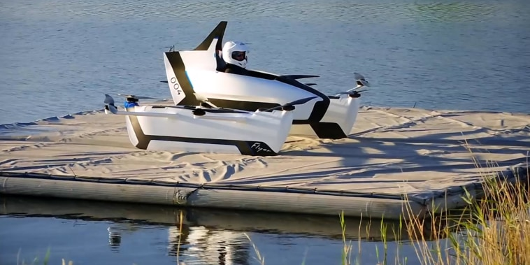 This personal flying vehicle is ready for take off