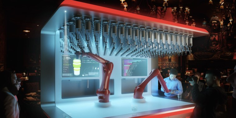 This bionic bartender serves up 120 drinks an hour