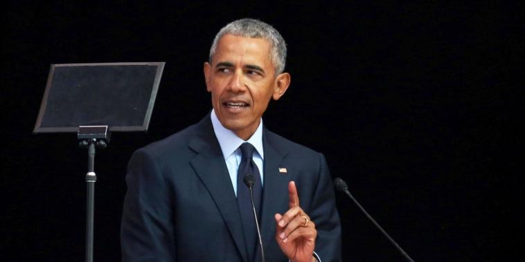 'People just make stuff up': Obama slams Trump-era politics in speech