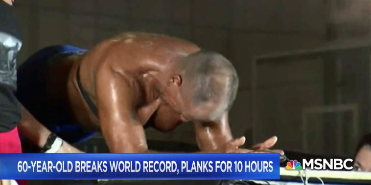 60-year-old breaks world record, planks for 10 hours