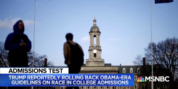 Trump administration urges colleges and universities to abandon affirmative action