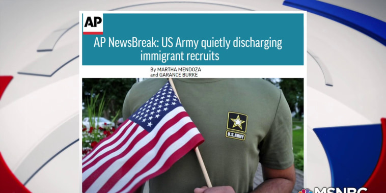 Trump administration kicks out immigrants serving in the army