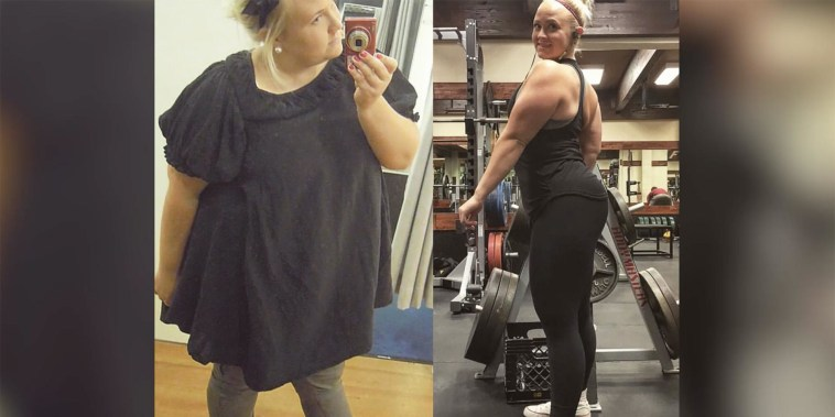 Woman loses 100 pounds, and falls in love with her weight-loss inspiration