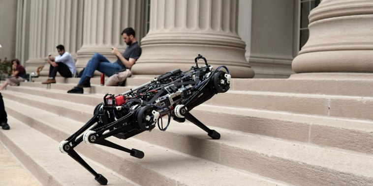 Cheetah 3 is a blind robot that doesn't need sensors to navigate