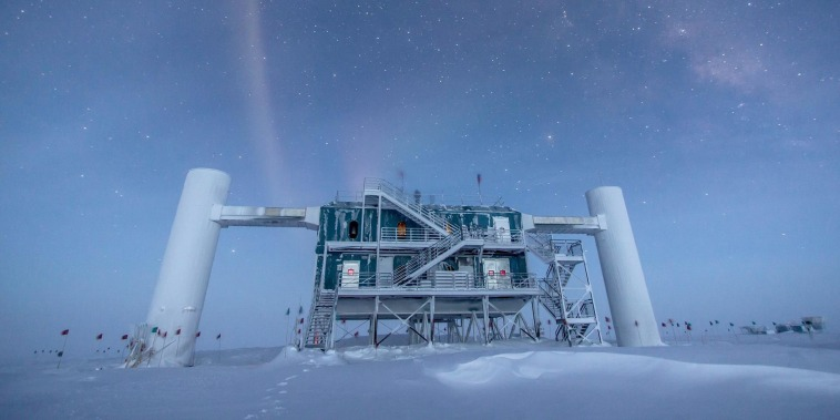 A mysterious particle from a distant galaxy made its way to an observatory in Antarctica