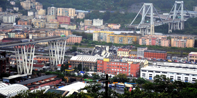 Drivers killed as highway overpass collapses in Italy