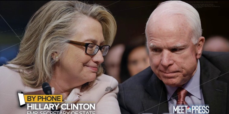 Hillary Clinton: McCain leaves 'a legacy of service and courage'