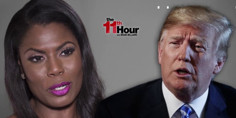 Trump staffers reportedly 'absolutely terrified' of Omarosa tapes