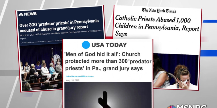 300 priests in Pennsylvania accused of sexual abuse