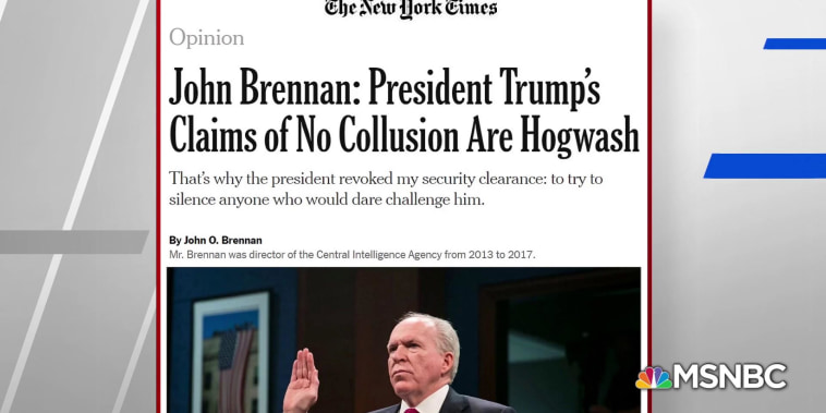 Brennan: Trump's claims of 'no collusion' are hogwash