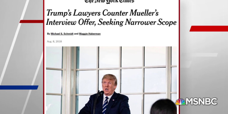 NYT: Trump lawyers reject Mueller's latest terms for interview