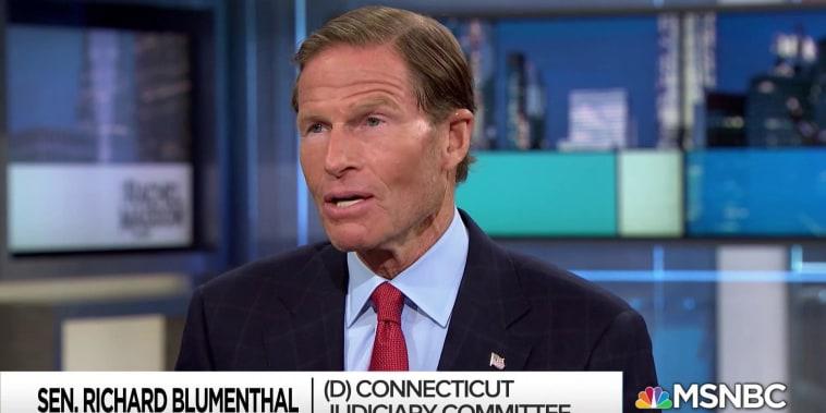 Sen. Blumenthal: Senate GOP hiding and concealing Kavanaugh docs