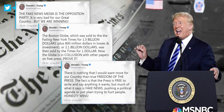 Hundreds of newspapers criticize Trump's anti-media attacks