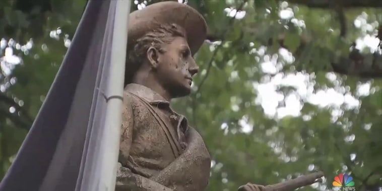 Controversial confederate statue toppled on UNC campus by protesters
