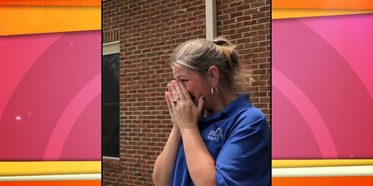 Sweet video captures mom surprising daughter's teacher with a car