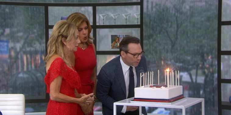Kathie Lee and Hoda surprise Christian Slater with a cake for his birthday