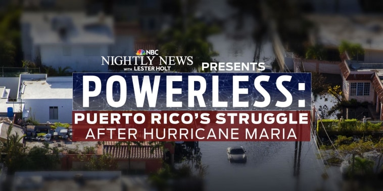 Powerless: Puerto Rico's struggle after Hurricane Maria