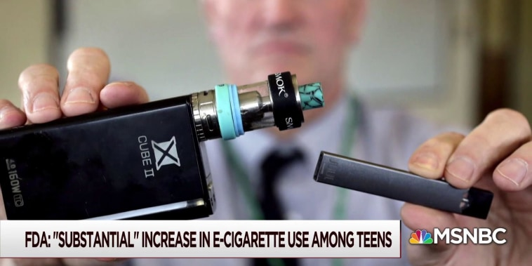 FDA sees 'substantial' increase in teen e-cigarette use