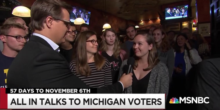 Michigan voters tell Chris Hayes they're fired up
