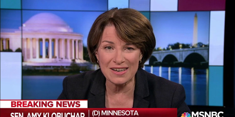 Klobuchar: Republicans rush Kavanaugh case at expense of fairness