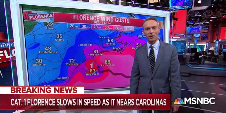 Hurricane Florence nears landfall