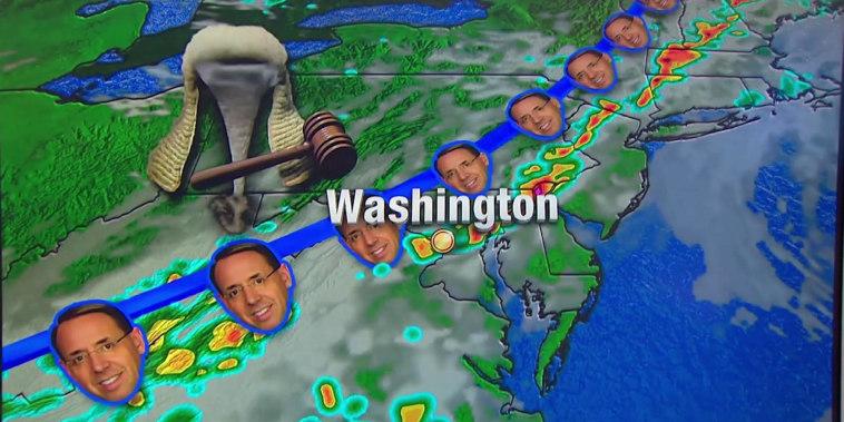 Life imitates politics as a cloud hangs over DC