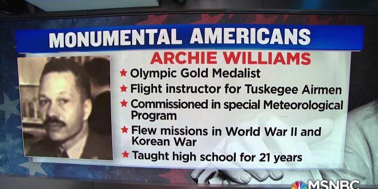 #MonumentalAmerican: Weatherman, olympian, teacher, and veteran