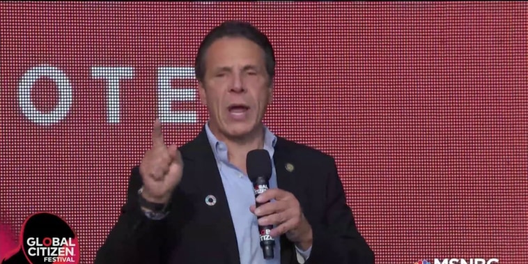 Governor Andrew Cuomo calls for equal justice at Global Citizen Festival