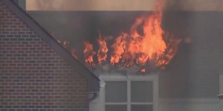 Massive inferno erupts at D.C. senior living apartment complex