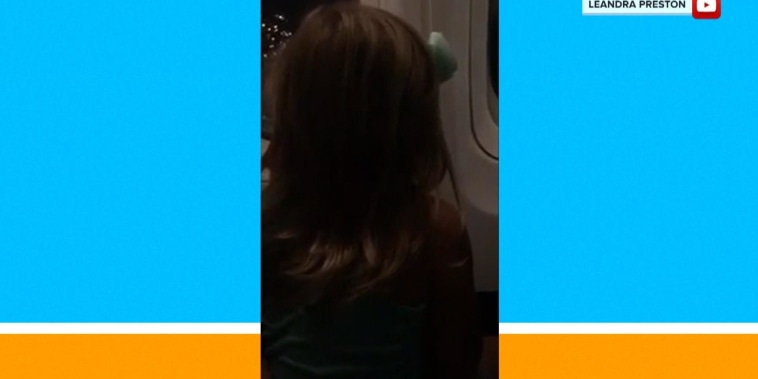 Little girl takes plane for 1st time and couldn't be happier