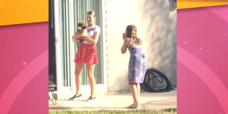 Sisters have sweetest reaction when surprised with puppy