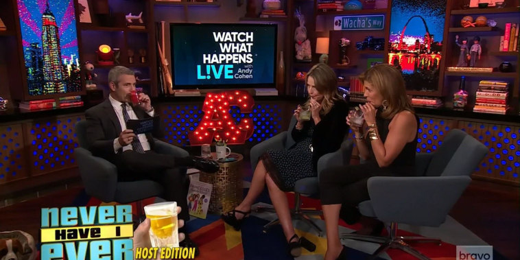 See Savannah and Hoda play 'Never Have I Ever' with Andy Cohen
