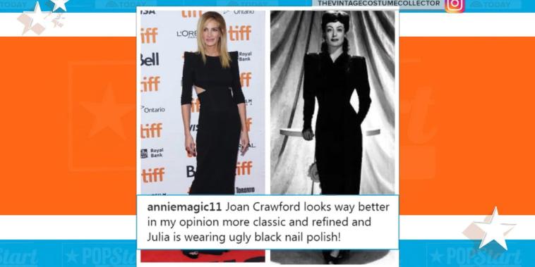 Julia Roberts shuts down fashion critic on Instagram