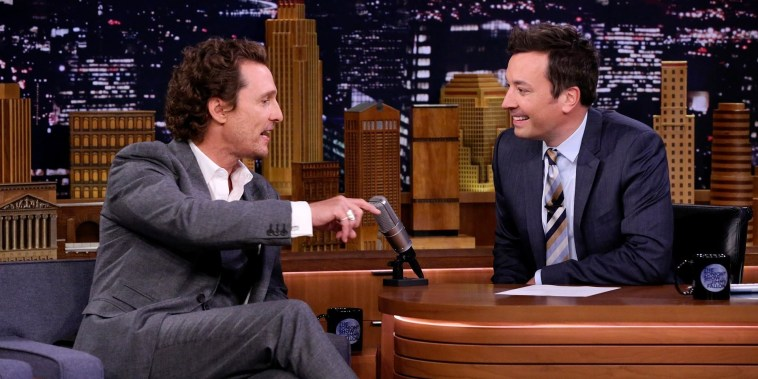 Matthew McConaughey convinced his mom to take a longer vacation
