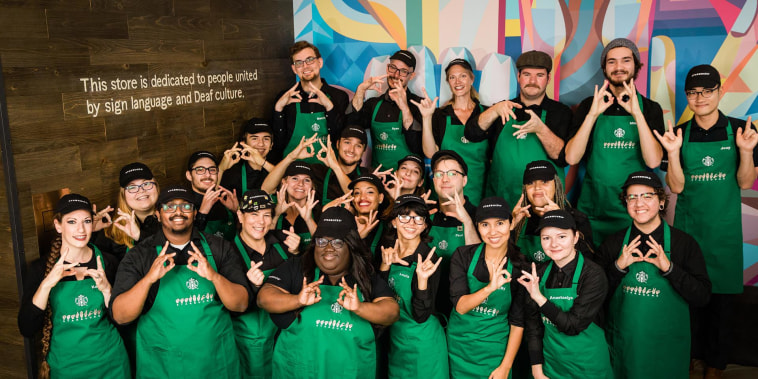 Starbucks opens first signing store, where employees will use American Sign Language