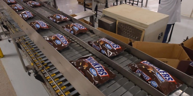 The Follow: See how Snickers bars are really made