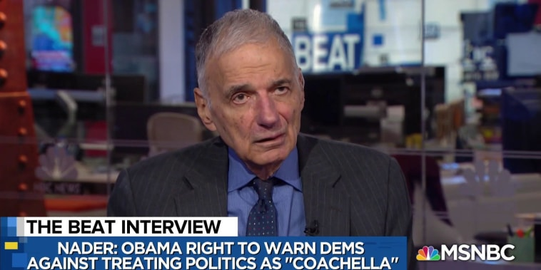 Liberal shock: Ralph Nader touts Bloomberg 2020