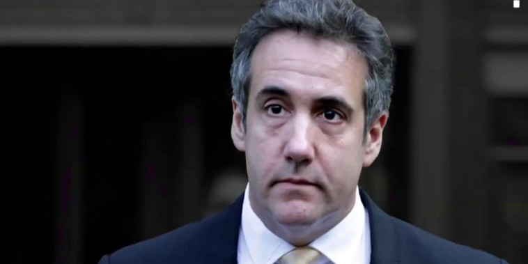 Trump accuses 'PR person' Michael Cohen of lying under oath