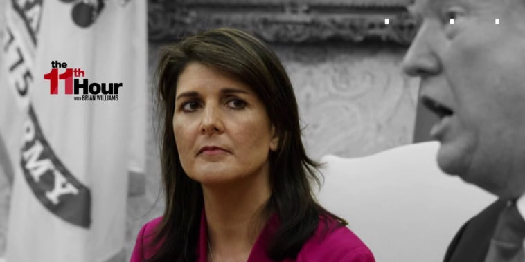 Why is Nikki Haley quitting her job as Trump's U.N. ambassador?