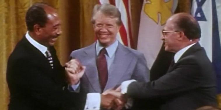 Carter leads the Egypt-Israel Peace Treaty