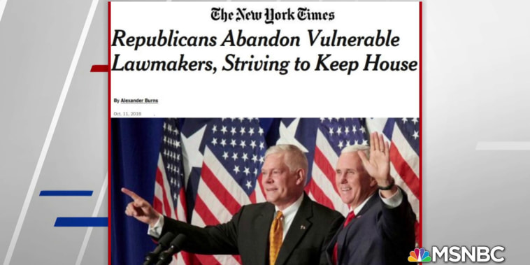 NYT: GOP abandons vulnerable lawmakers in wake of blue wave