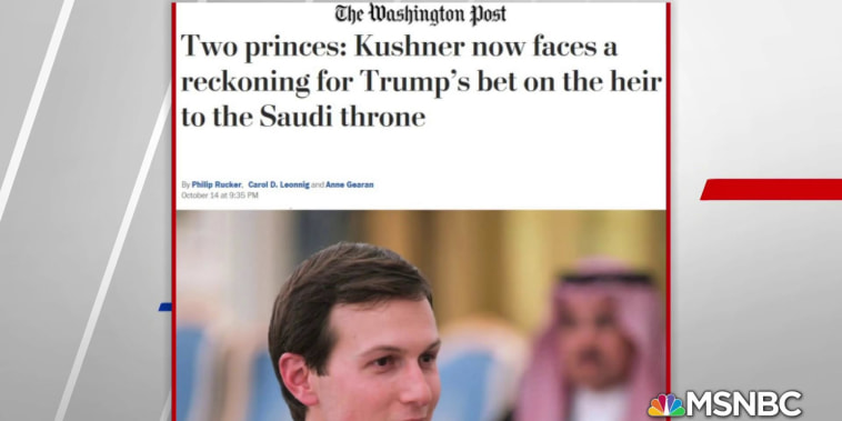 WaPo: Kushner planning to continue support of Saudi Arabia