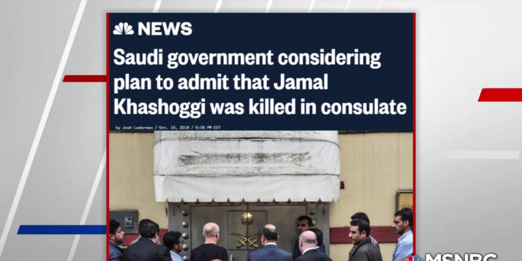 Saudi govt considering plan to admit Khashoggi killed in consulate